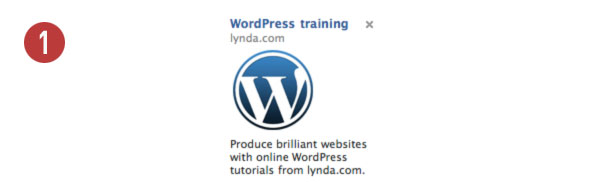 Facebook ad for Lynda.com